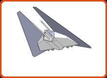 Raumschiff 2 Model (von unten vorne)